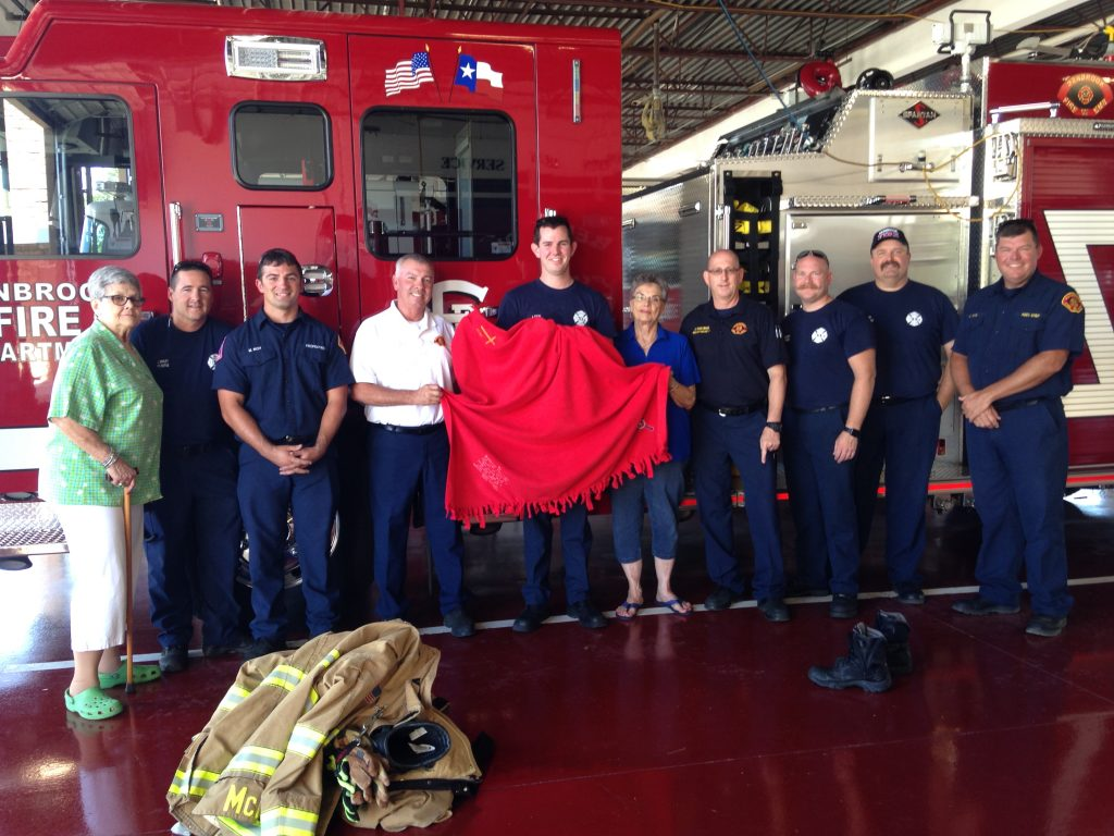 Prayer shawl for the Benbrook firefighters