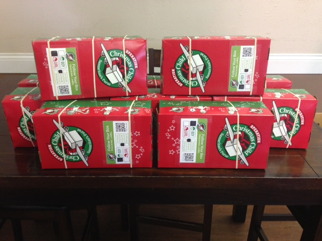 Children's mission project - Operation Christmas Child